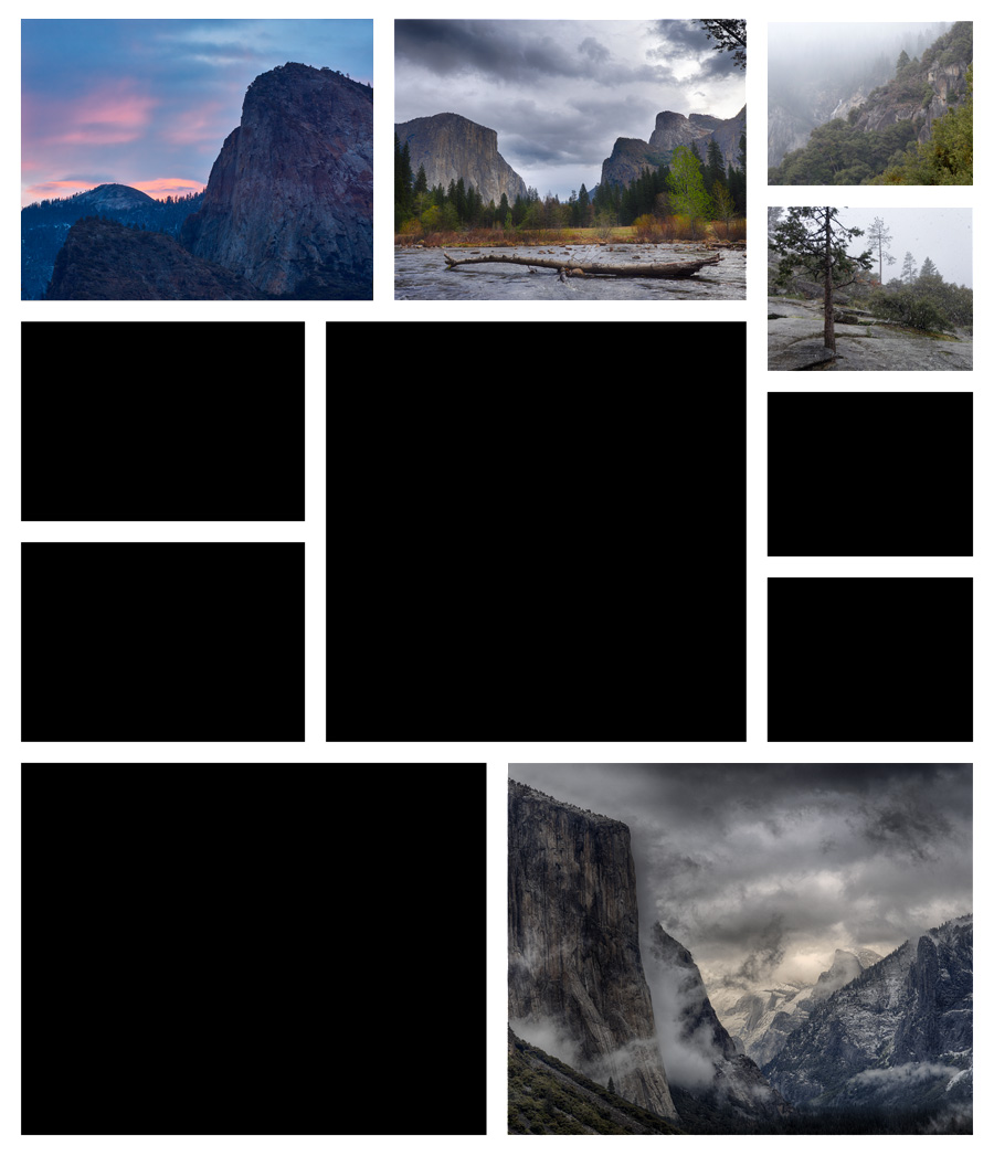 Collage A Day in Yosemite 04
