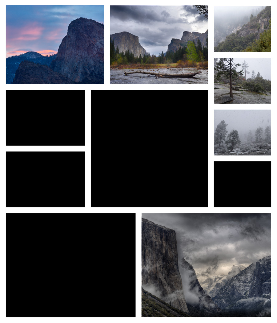 Collage A Day in Yosemite 05