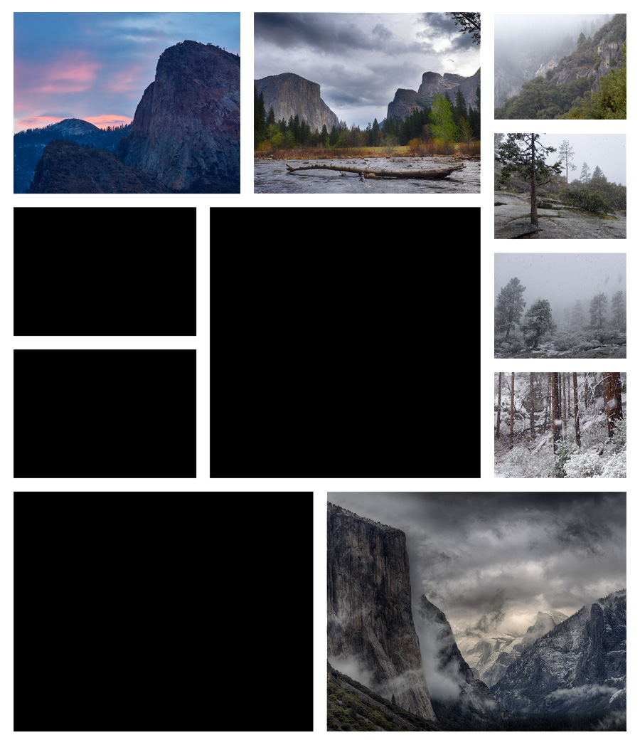 Collage A Day in Yosemite 06