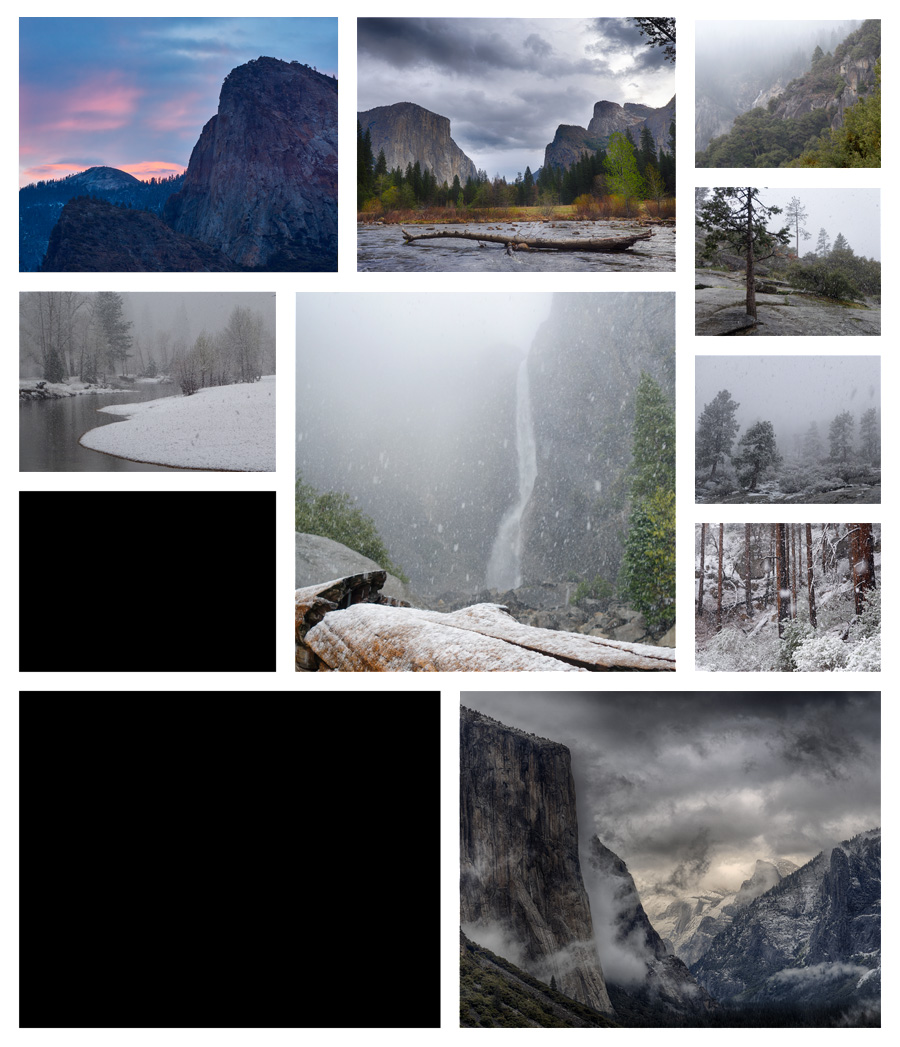 Collage A Day in Yosemite 08