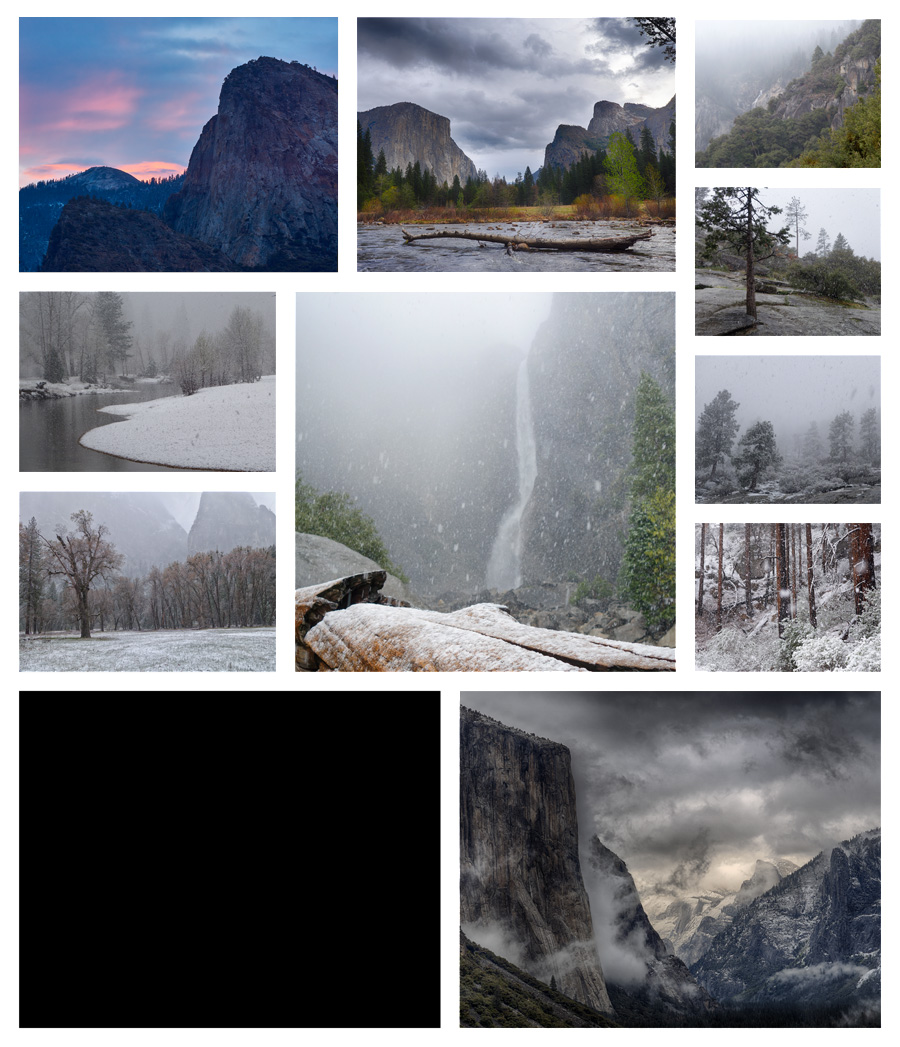 Collage A Day in Yosemite 09
