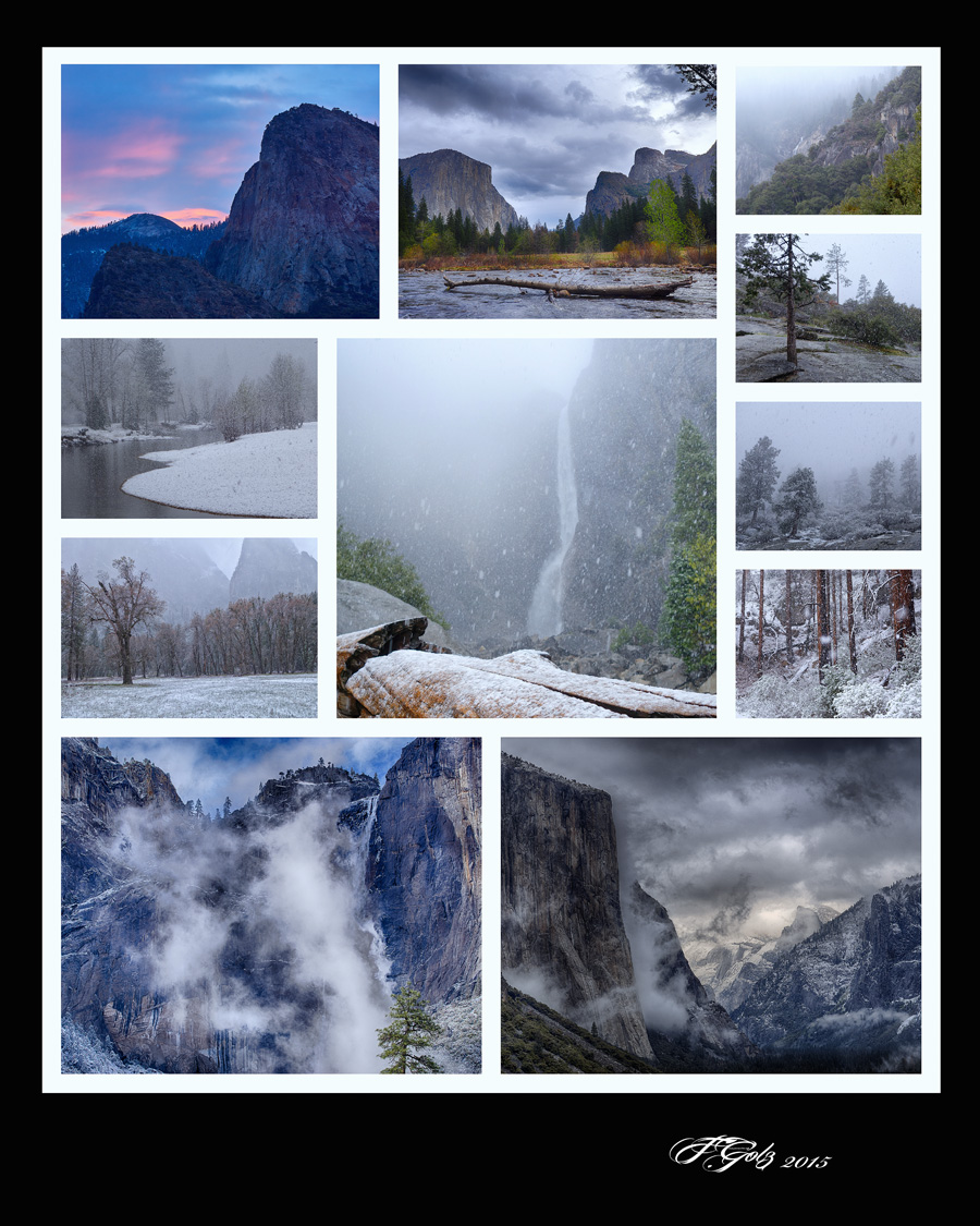 Collage A Day in Yosemite 10